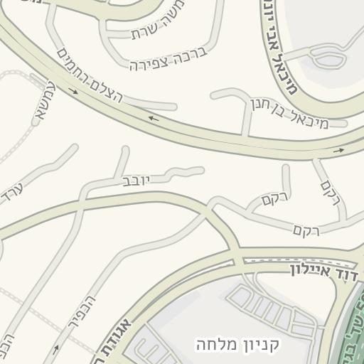רק החוצה Waze Livemap - מסלול נסיעה אל חניון הגן הטכנולוגי - מלחה, ירושלים GB-31
