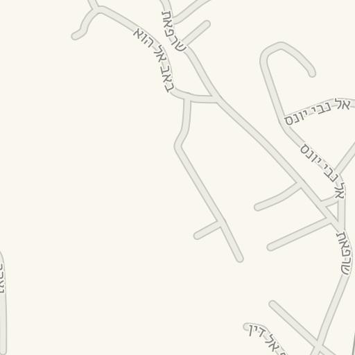 נפלאות Waze Livemap - מסלול נסיעה אל חניון הגן הטכנולוגי - מלחה, ירושלים WC-51